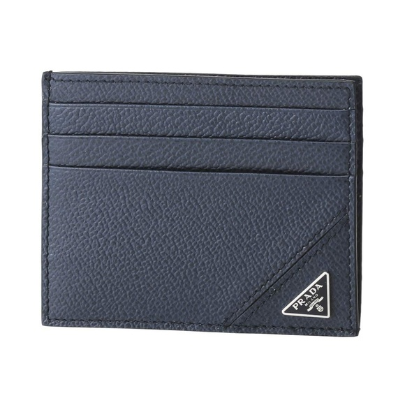Prada Other - Prada Blue Leather Cash and Card Slim Wallet